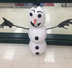 Our PreK Olaf Scarecrow!