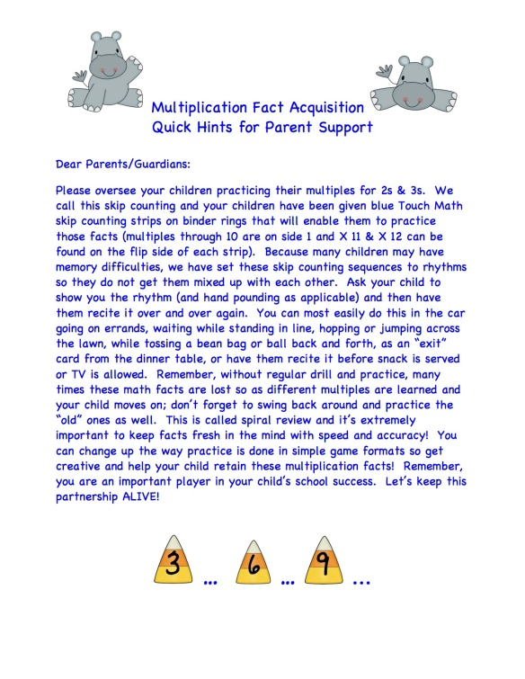 Multiplication Fact Acquisition