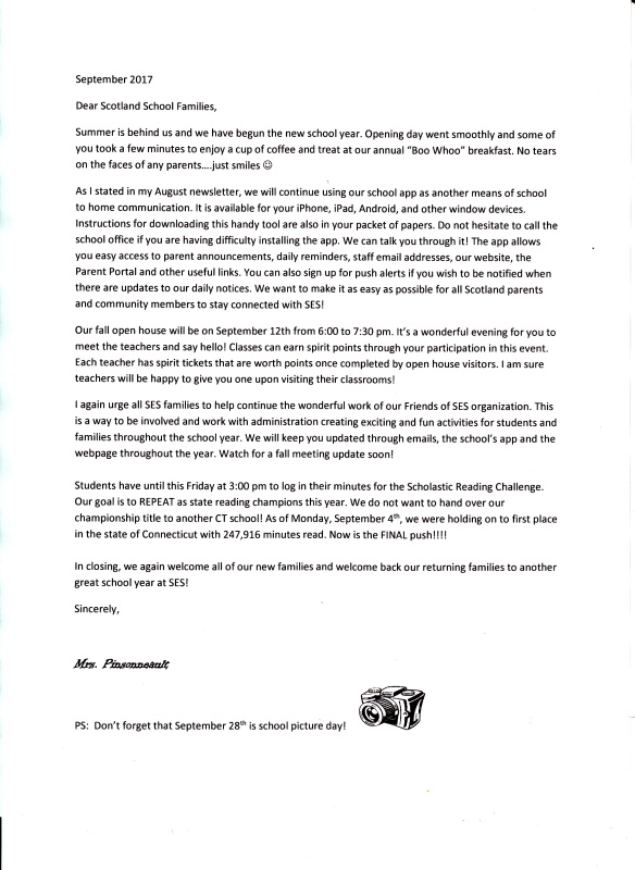 Sept 17 parent letter