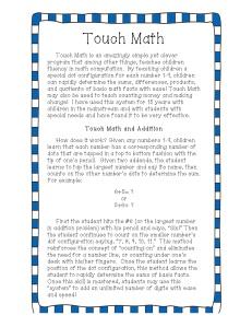 TouchMath + explanation
