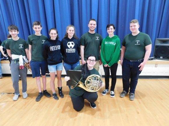 These Students are Scotland Elementary School alumni: Zachary Toper, Sam Victoria, Violet Andrews, Lexi Smardon, Kyle Benito, Samantha LaBelle, Ben Card, and Gracie Martin.