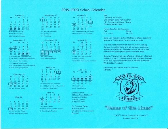 2019 TO 2020 SCHOOL YEAR REV.